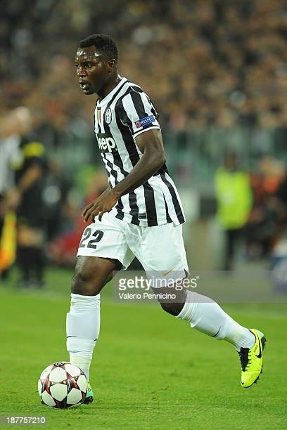 Kwadwo Asamoah of Juventus in action during the UEFA Champions League Group B match between Juventus and Real Madrid at Juventus Arena on November 5...
