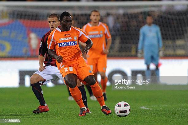 Kwadwo Asamoah of Udinese in action during the Serie A match between Bologna FC and Udinese Calcio at Stadio Renato Dall'Ara on September 22 2010 in...