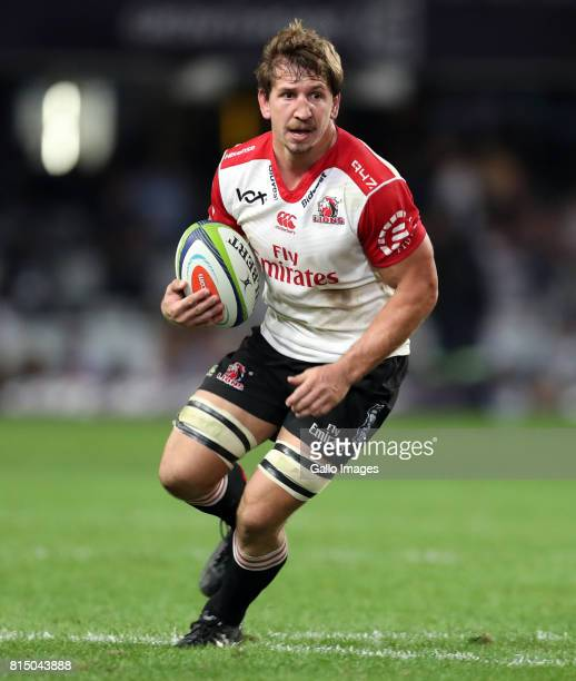 Kwagga Smith of the Emirates Lions during the Super Rugby match between Cell C Sharks and Emirates Lions at Growthpoint Kings Park on July 15 2017 in...