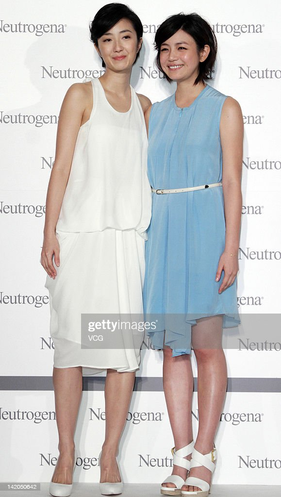 Kwai Lun-Mei (L) and Michelle Chen attend a commercial event for Neutrogena on March 28, 2012 in Taipei, Taiwan of China.