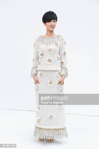 Kwai LunMei attends the Chanel show as part of Paris Fashion Week Haute Couture Fall/Winter 20142015 at Grand Palais on July 8 2014 in Paris France
