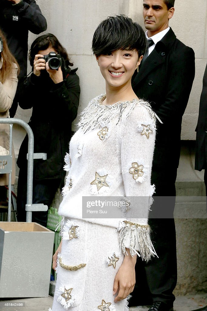 Kwai Lun-Mei attends the Chanel show as part of Paris Fashion Week - Haute Couture Fall/Winter 2014-2015 at Grand Palais on July 8, 2014 in Paris, France.