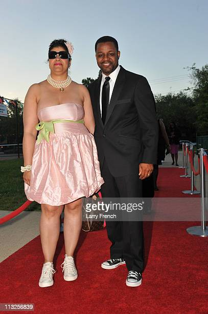Kwame Brown chairman of the Council of the District of Columbia and his wife Marcia Brown attend the Tennis Ball II gala at the Southeast Tennis and...