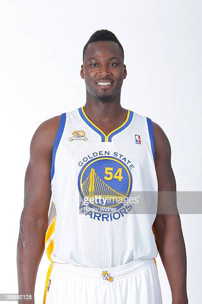 Kwame Brown of the Golden State Warriors poses for a portrait during an additional media day at Oracle Arena on December 17 2011 in Oakland...