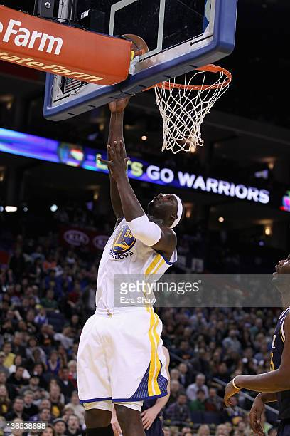 Kwame Brown of the Golden State Warriors shoots the ball during their game against the Utah Jazz at Oracle Arena on January 7 2012 in Oakland...