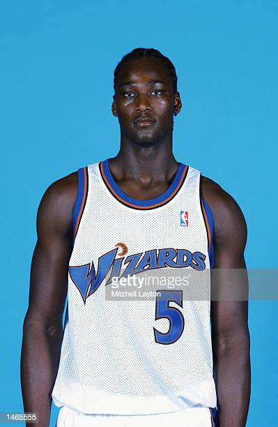 Kwame Brown of the Washington Wizards poses for a portrait during the Wizards Media Day on September 30 2002 at MCI Center in Washington DC NOTE TO...