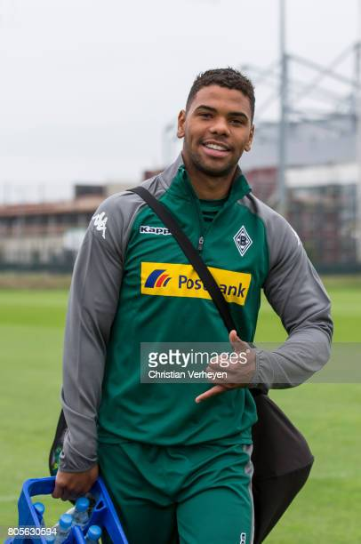 Kwame Yeboah during a training session of Borussia Moenchengladbach at BorussiaPark on July 02 2017 in Moenchengladbach Germany