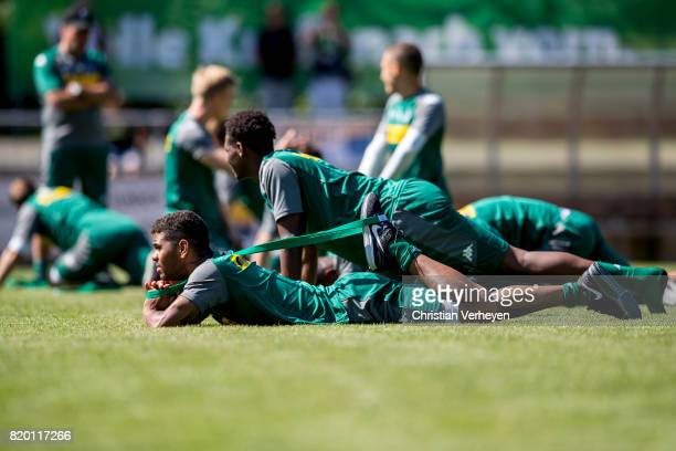 Kwame Yeboah of Borussia Moenchengladbach during a training session at the Training Camp of Borussia Moenchengladbach on July 21 2017 in RottachEgern...