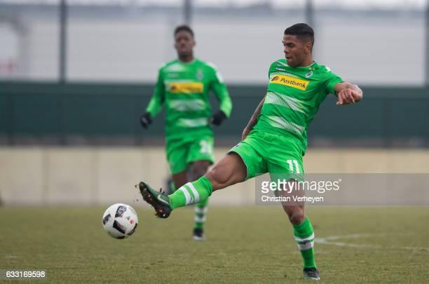 Kwame Yeboah of Borussia Moenchengladbach during the Friendly Match between Borussia Moenchengladbach and VfL Bochum at BorussiaPark on January 31...