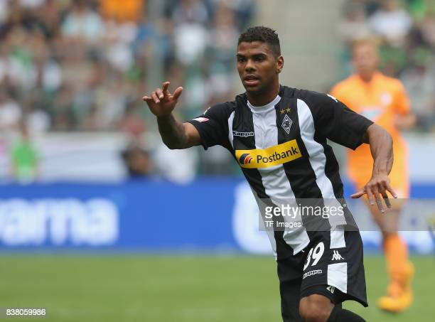 Kwame Yeboah of Moenchengladbach looks on during the Telekom Cup 2017 3rd place match between Borussia Moenchengladbach and TSG Hoffenheim at...