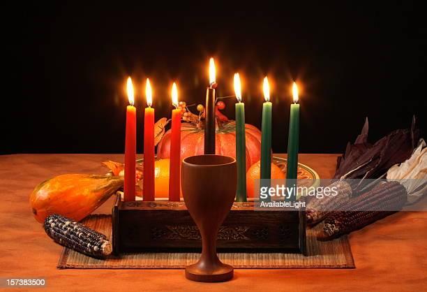 Kwanzaa tabela velas Incandescência