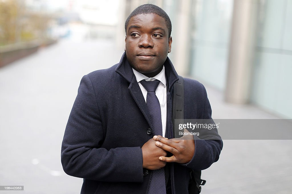 <a gi-track='captionPersonalityLinkClicked' href=/galleries/search?phrase=Kweku+Adoboli&family=editorial&specificpeople=8256036 ng-click='$event.stopPropagation()'>Kweku Adoboli</a>, a former trader at UBS AG, arrives back for his trial at Southwark Crown Court after an adjournment for lunch in London, U.K., on Thursday, Nov. 15, 2012. The jury in the trial of Adoboli, the former UBS AG trader accused of causing the largest unauthorized trading loss in British history, began deliberations on whether or not he is guilty. Photographer: Simon Dawson/Bloomberg via Getty Images