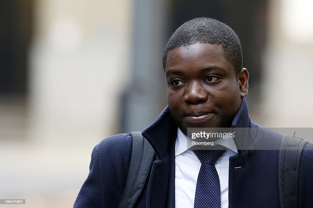 <a gi-track='captionPersonalityLinkClicked' href=/galleries/search?phrase=Kweku+Adoboli&family=editorial&specificpeople=8256036 ng-click='$event.stopPropagation()'>Kweku Adoboli</a>, a former trader at UBS AG, arrives to attend his trial at Southwark Crown Court in London, U.K., on Thursday, Nov. 15, 2012. The jury in the trial of Adoboli, the former UBS AG trader accused of causing the largest unauthorized trading loss in British history, began deliberations on whether or not he is guilty. Photographer: Simon Dawson/Bloomberg via Getty Images