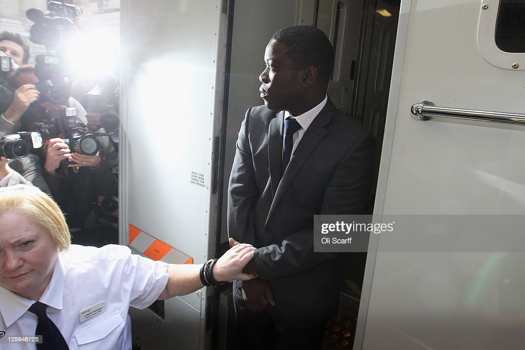<a gi-track='captionPersonalityLinkClicked' href=/galleries/search?phrase=Kweku+Adoboli&family=editorial&specificpeople=8256036 ng-click='$event.stopPropagation()'>Kweku Adoboli</a> (R), a trader for the Swiss investment bank UBS arrives at the City of London Magistrates Court on September 22, 2011 in London, England. Mr Adoboli is alleged to have made unauthorised trades that resulted in losses to UBS of 1.5 billion GBP.