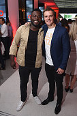 Kweku Mandela and Hugh Evans CEO of Global Citizen attend the 2016 Global Citizen Festival Launch Celebration at Cadillac House on July 26 2016 in...