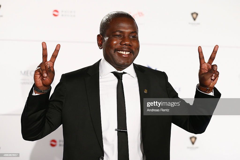Kweku Mandela arrives for the Cinema For Peace 2014 - Gala at Konzerthaus Am Gendarmenmarkt on February 10, 2014 in Berlin, Germany.