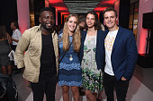 Kweku Mandela guest Tanyella Evans and Hugh Evans CEO of Global Citizen attend the 2016 Global Citizen Festival Launch Celebration at Cadillac House...