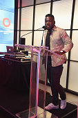Kweku Mandela speaks at the 2016 Global Citizen Festival Launch Celebration at Cadillac House on July 26 2016 in New York City