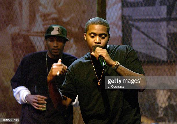 Kwon and Nas during MTV Taping of 'The Life and Rhymes of Nas' at Bowery Poets Cafe in New York City New York United States