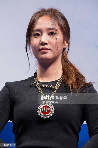 Kwon YuRi of South Korean girl group Girls' Generation attends 'No Breathing' press conference at CGV on September 30 2013 in Seoul South Korea The...