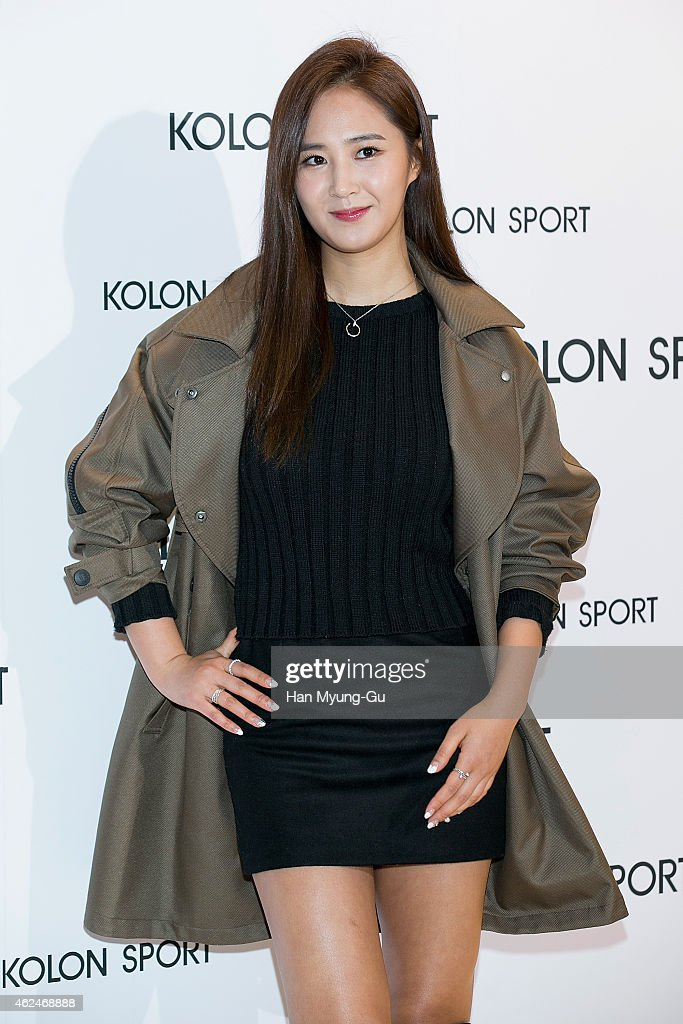 Kwon YuRi of South Korean girl group Girls' Generation attends the Kolon Sport 2015 SS Collection on January 29 2015 in Seoul South Korea