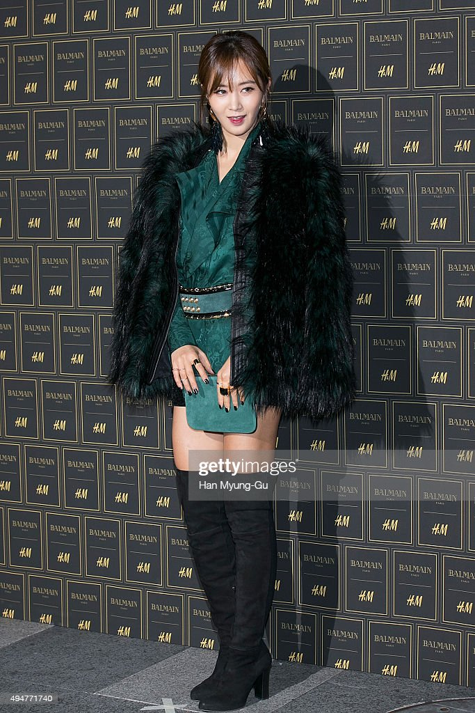 Kwon YuRi of South Korean girl group Girls' Generation attends the BALMAIN x HM Preview Party at Club The A on October 28 2015 in Seoul South Korea