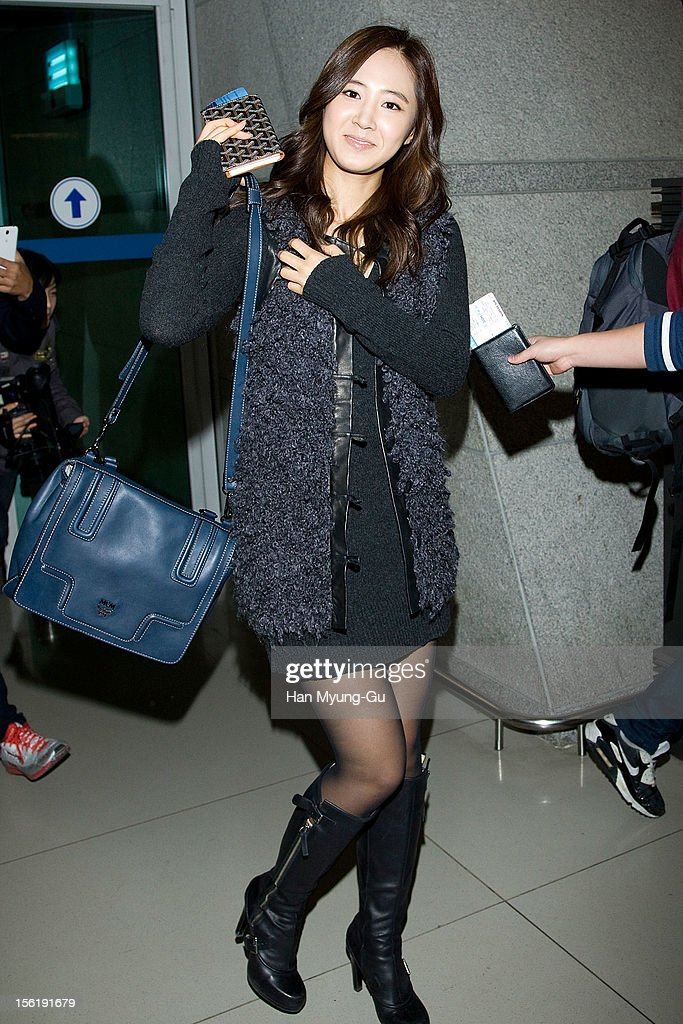 Kwon Yu-Ri (Yuri) of South Korean girl group Girls' Generation is seen at Incheon International Airport on November 10, 2012 in Seoul, South Korea.