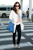 Kwon YuRi of South Korean girl group Girls' Generation is seen on departure at Incheon International Airport on March 8 2013 in Incheon South Korea