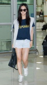 Kwon YuRi of South Korean girl group Girls' Generation is seen upon arrival at Gimpo International Airport on July 17 2013 in Seoul South Korea