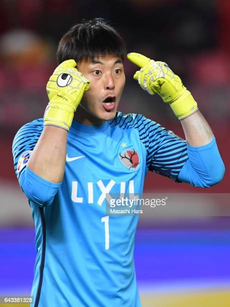 Kwoun Suntae of Kashima Antlers looks on during the AFC Champions League Group E match between Kashima Antlers and Ulsan Hyndai at Kashima Soccer...