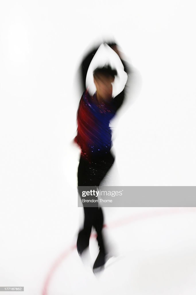 Kwun Hung Leung of Hong Kong competes in the Senior Mens Free Program during Skate Down Under at Canterbury Olympic Ice Rink on August 22, 2013 in Sydney, Australia.