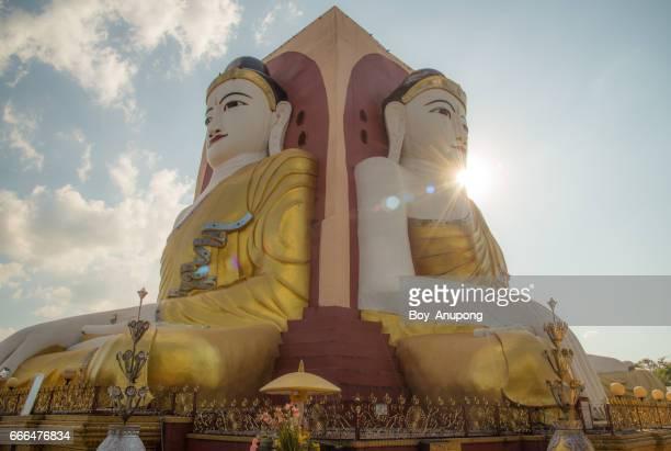 Kyaik Pun pagoda the big four Buddha images in Bago, Myanmar.