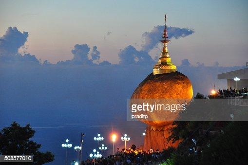 Kyaikhtiyo Pagode, Golden Fels, Myanmar. : Stock-Foto