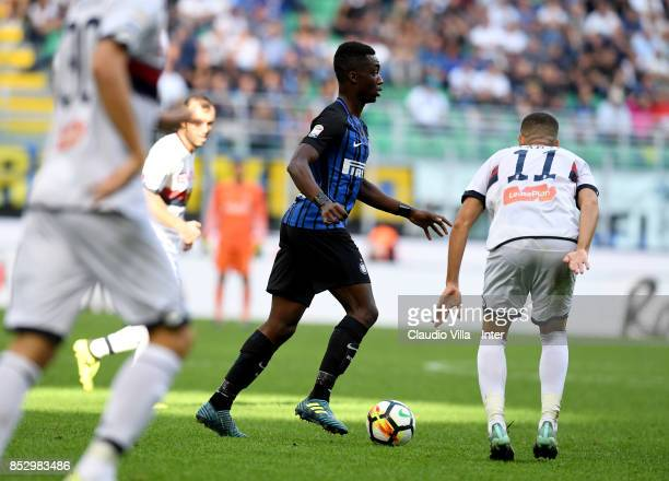 kYann Karamoh of FC Internazionale in action during the Serie A match between FC Internazionale and Genoa CFC at Stadio Giuseppe Meazza on September...
