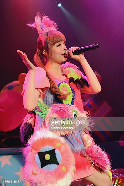 Kyary Pamyu Pamyu performs on stage during the Nanda World Collection World Tour at House Of Blues Chicago on March 5 2014 in Chicago United States