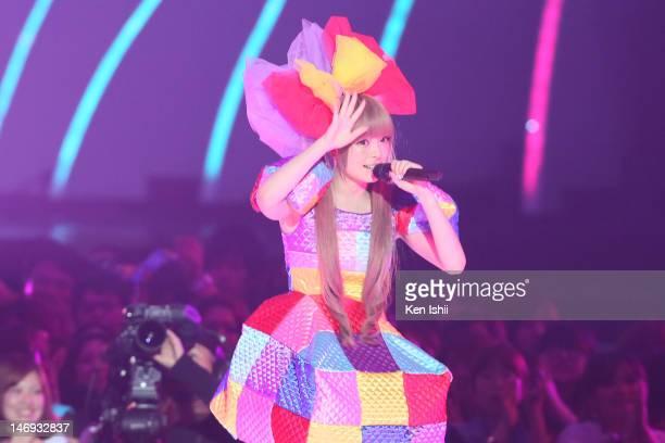 Kyary pamyu pamyu performs onstage during the MTV Video Music Awards Japan 2012 at Makuhari Messe on June 23 2012 in Chiba Japan