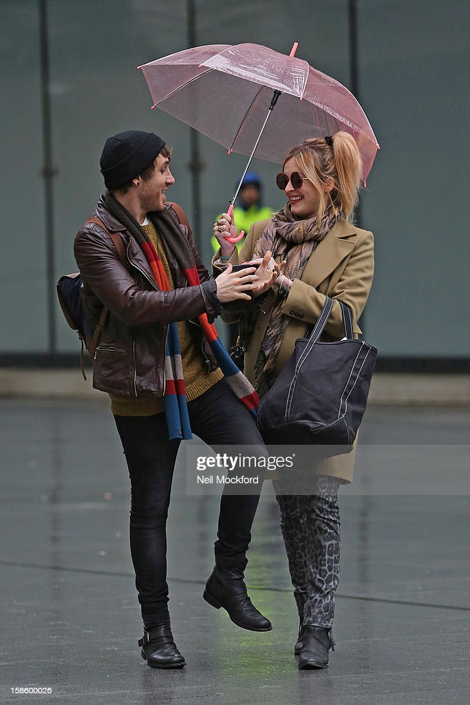 Kye Sones and Fearne Cotton seen at BBC Radio One on December 20, 2012 in London, England.