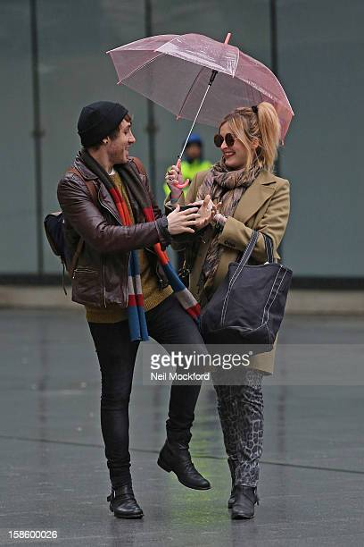 Kye Sones and Fearne Cotton seen at BBC Radio One on December 20 2012 in London England