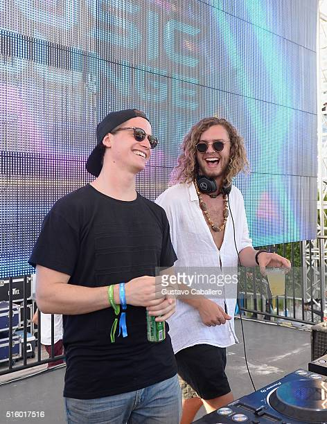 Kygo and Thomas Jack perform onstage at SiriusXM Celebrates 10th Anniversary Of The SiriusXM Music Lounge At 1 Hotel South Beach Leading Up To Ultra...