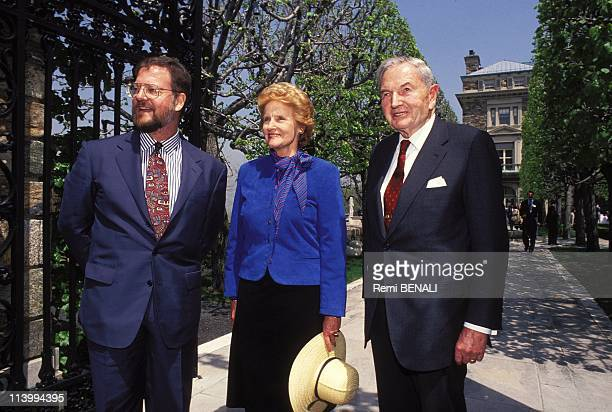 Kykuit the house of the Rockefeller family just is opened to the public In Pocantico hills United States In May 1994David Rockefeller Jr Abby O'Neill