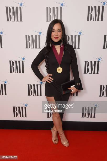 Kyla attends the BMI London Awards at The Dorchester on October 9 2017 in London England