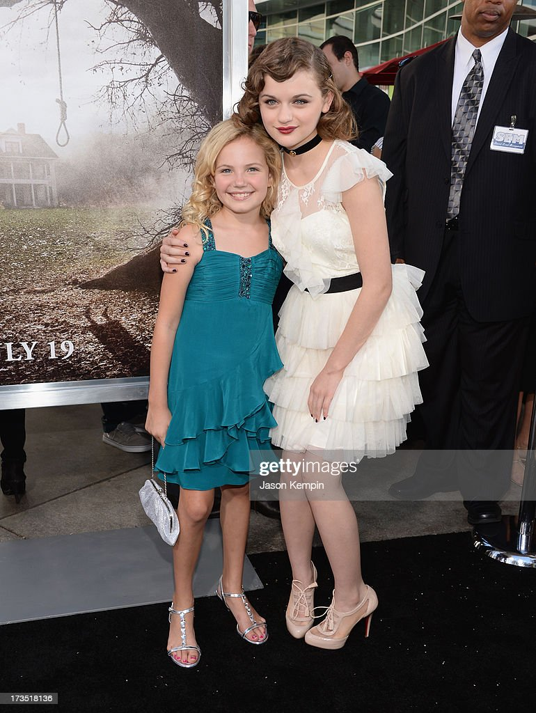 Kyla Deaver and <a gi-track='captionPersonalityLinkClicked' href=/galleries/search?phrase=Joey+King+-+Actress&family=editorial&specificpeople=2264584 ng-click='$event.stopPropagation()'>Joey King</a> attend the premiere of Warner Bros. 'The Conjuring' at ArcLight Cinemas Cinerama Dome on July 15, 2013 in Hollywood, California.
