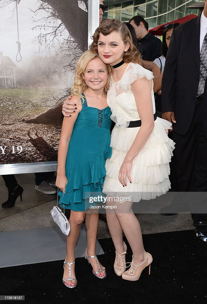 Kyla Deaver and <a gi-track='captionPersonalityLinkClicked' href=/galleries/search?phrase=Joey+King&family=editorial&specificpeople=2264584 ng-click='$event.stopPropagation()'>Joey King</a> attend the premiere of Warner Bros. 'The Conjuring' at ArcLight Cinemas Cinerama Dome on July 15, 2013 in Hollywood, California.