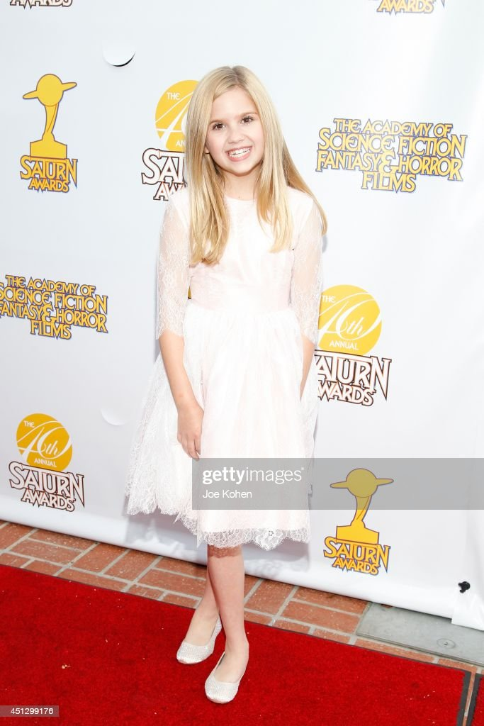 Kyla Kennedy attends the 40th Annual Saturn Awards at The Castaway on June 26, 2014 in Burbank, California.
