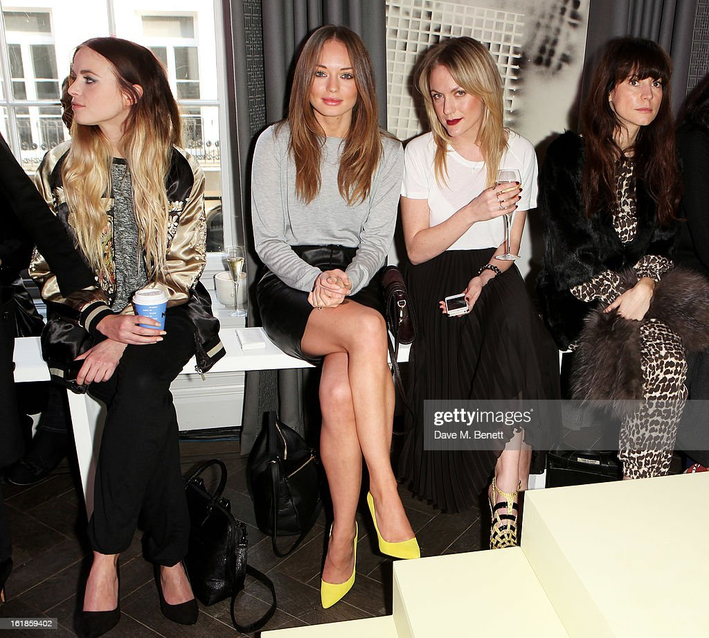 Kyla Le Grange, Laura Haddock, guest and Anna Foster attend the Whistles Limited Edition Autumn/Winter 2013 Collection at The Arts Club on February 17, 2013 in London, England.