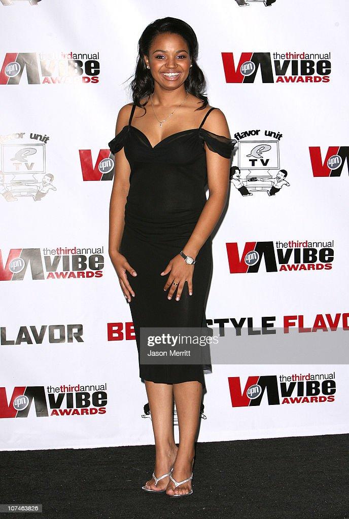 Kyla Pratt presenter during 3rd Annual Vibe Awards Press Room at Sony Studios in Culver City California United States