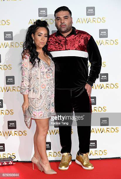 Kyla Reid and Naughty Boy attend the BBC Music Awards at ExCel on December 12 2016 in London England