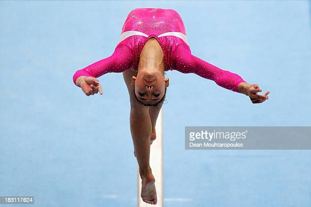 Kyla Ross of USA competes in the Balance Beam during the Womens AllRound Final on Day Five of the Artistic Gymnastics World Championships Belgium...