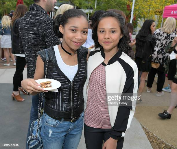 KylaDrew Simmons and Breanna Yde attend Nickelodeon's Sizzling Summer Camp Special Event on May 15 2017 in Burbank California