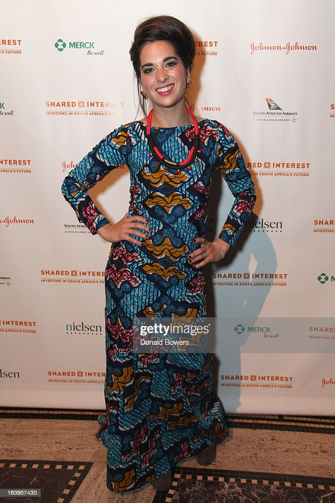 Kyla-Rose Smith of Freshlyground attends the Shared Interest 19th Annual Awards Gala on March 18, 2013 in New York City.